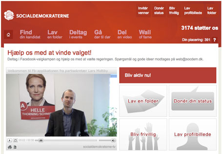 Socialdemokratiet facebook applikation
