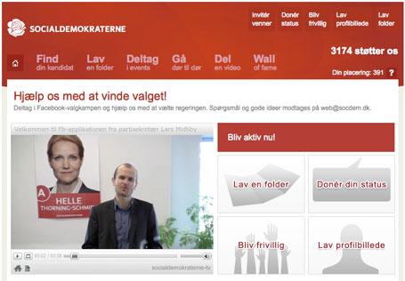 Socialdemokratiet facebook applikation